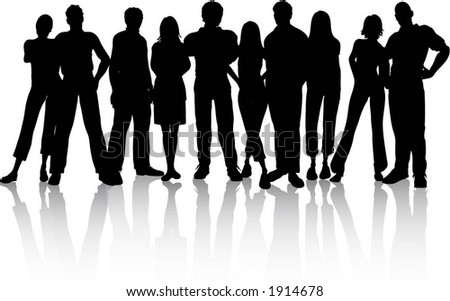 Group of people - vector