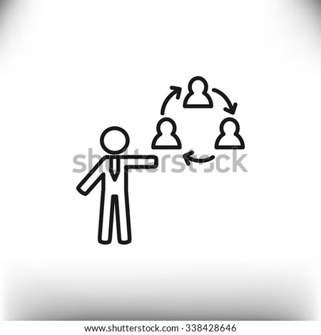 group of people web icon. vector design