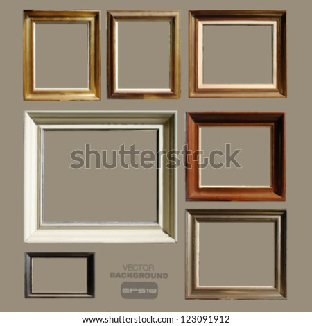 group of picture or photo frame to place your concept. vector design - stock vector