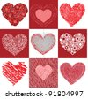 group of pictures from valentines - stock vector