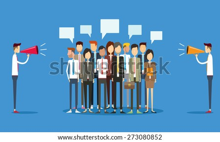 group people business and marketing communication concept - stock vector