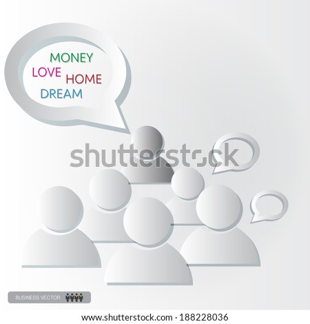 group think and discussion in the class, vector illustration