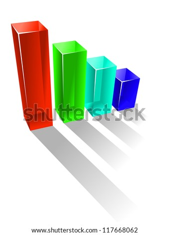Growing business chart in glossy style for success concept. Jpeg version also available in gallery