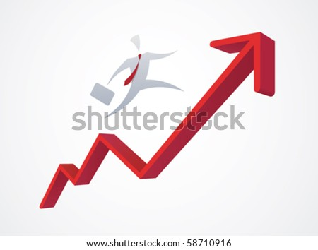 Growing business graph - stock vector