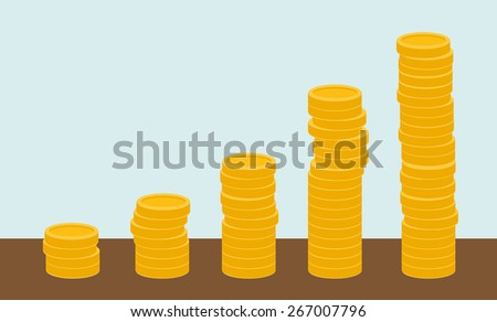 Growing business in financial crisis concept. Economy and money, coin and success. When others falls, we rise up. A contemporary style with pastel palette white background. Vector flat design - stock vector