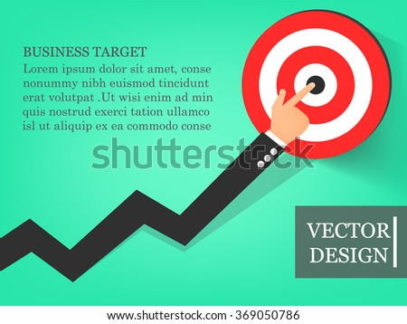 Growing chart of business,vector illustration,vector business growing chart,vector design,business target. - stock vector
