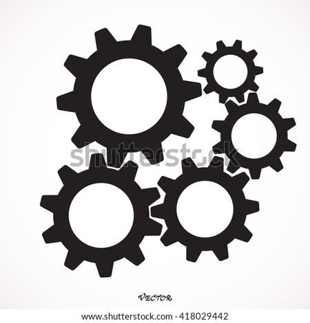 growing gears  - stock vector