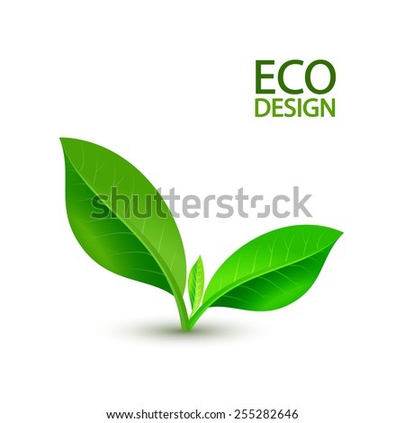 Growing green sprout.  Vector illustration. - stock vector