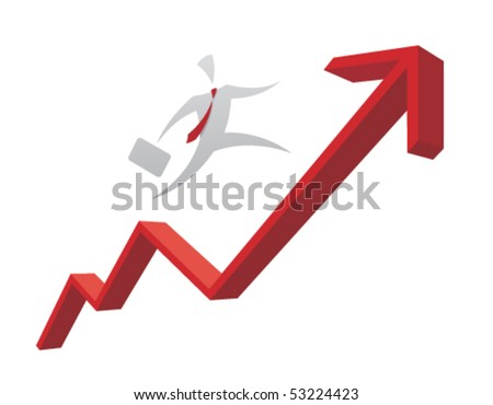 Growing interest rate - check portfolio for variations - stock vector
