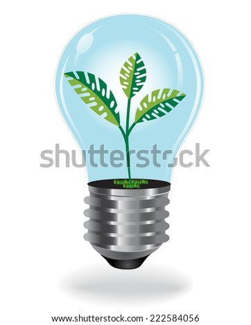 Growing Plant, Bulb - stock vector