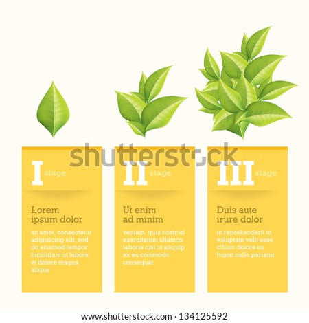Growth Chart - stock vector
