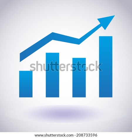 Growth chart icon. Vector EPS10 - stock vector