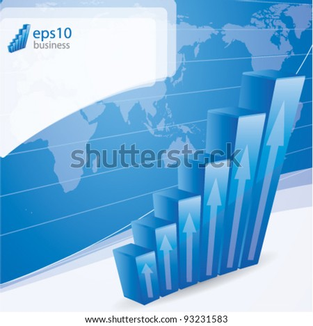 Growth concept business brochure background with diagram - stock vector