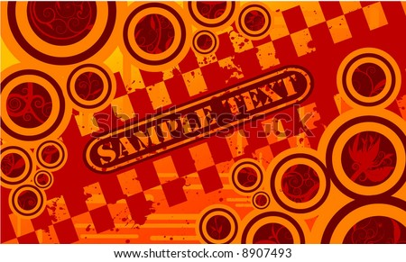 grunge abstract design - stock vector