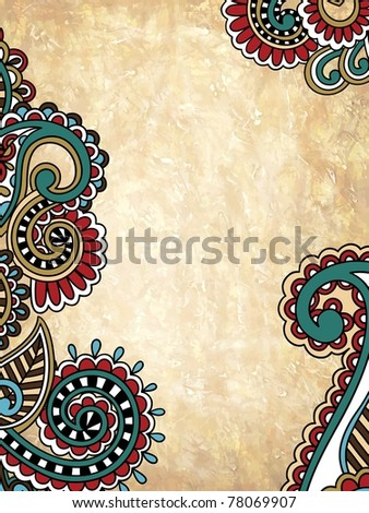 grunge abstract floral background with place for your text - stock vector