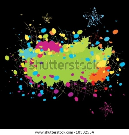 Grunge abstract stain Color explosion vector illustration