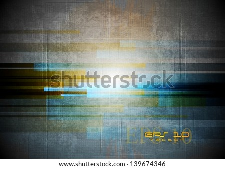Grunge abstract technology background. Vector design eps 10 - stock vector