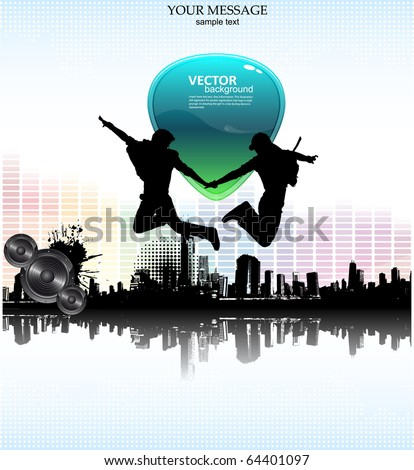 grunge abstract vector background - stock vector