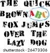 Grunge alphabet. - stock vector