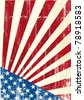 Grunge american flag. A grunge american poster - stock photo