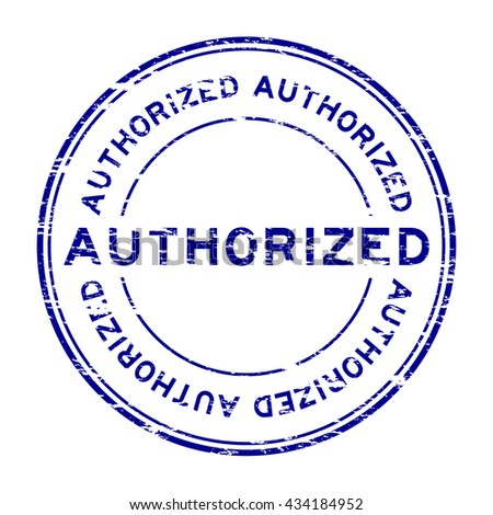 Grunge authorized rubber stamp - stock vector