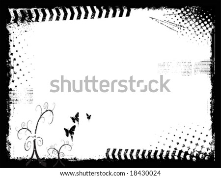 Grunge background banner - stock vector