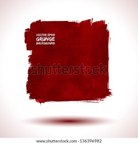 Grunge background. Business background. Watercolor background. Retro background. Vintage background. Abstract background. Red background. Texture background. Abstract shape. Vector shape - stock vector