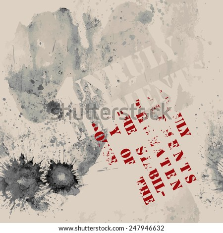 Grunge background can be seamless - stock vector