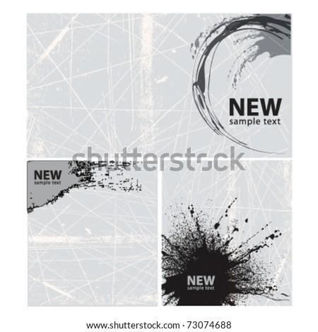grunge background frames - stock vector
