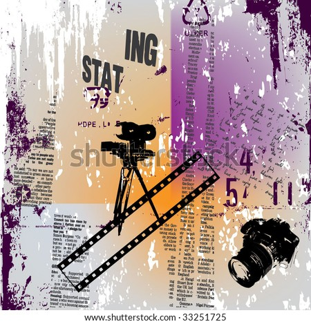 grunge background illustration - stock vector