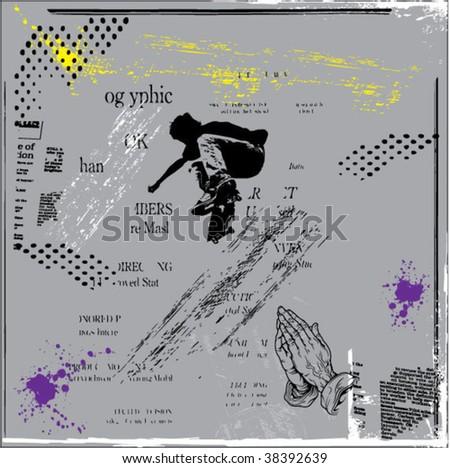 grunge background vector - stock vector