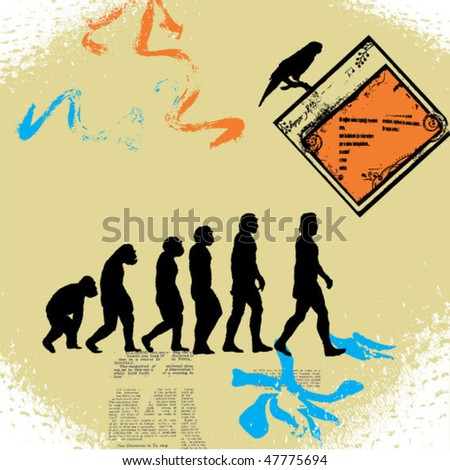 Evolution Of Man Stock Photos, Illustrations, and Vector Art
