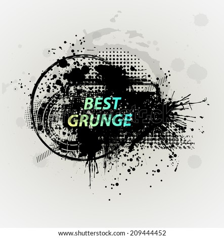 Grunge background with a colorful ink splat effect. Abstract grunge background. For party card template. vectror - stock vector