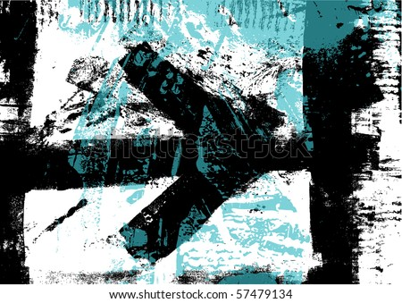 grunge background with arrow - stock vector