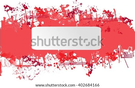 Grunge banner.Abstract vector template. - stock vector