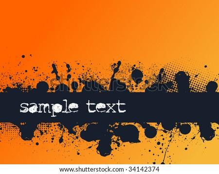 Grunge Banner Background - stock vector