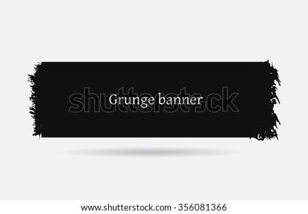 Grunge banner.Grunge background. - stock vector