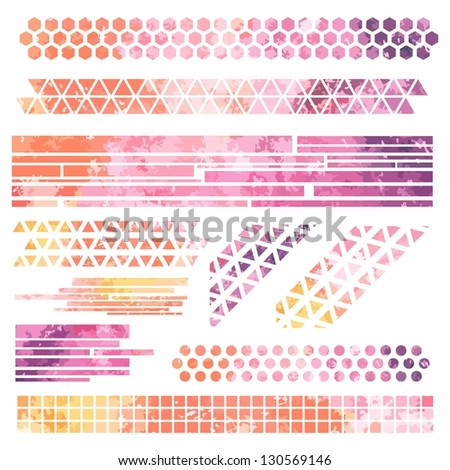 Grunge banners. Abstract colorful watercolor background - stock vector