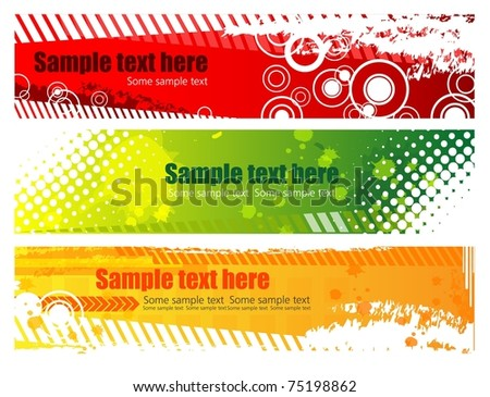 Grunge banners with place for your text, vector - stock vector