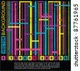 Grunge barcode background - stock vector