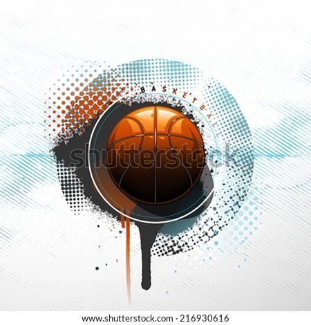 Grunge basketball background - stock vector