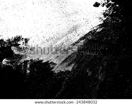 Grunge Black and White Distress Texture .  - stock vector