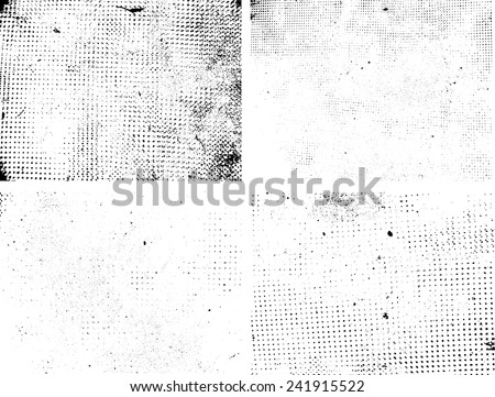 Grunge Black and White Distress Texture . Scratch Texture . Dirty Texture . Wall Background .Vector Illustration. Texture Collection . - stock vector