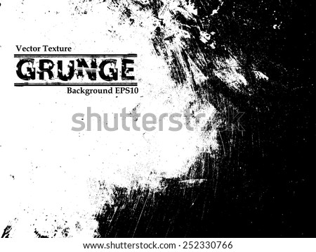 Grunge Black and White Distress Texture . Scratch Texture . Dirty Texture . Wall Background .Vector Illustration.  - stock vector