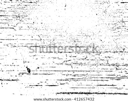 Grunge Black and White Distress Texture .Wall Background .Vector Illustration - stock vector