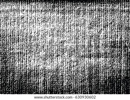 Grunge black and white distress vector texture template.
