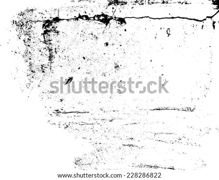 Grunge Black and White Texture . Distress Texture . Grungy Texture . Scratch Texture . Dirty Texture . Vector Illustration. Simply Place Texture over any Object to Create Distress Effect  - stock vector