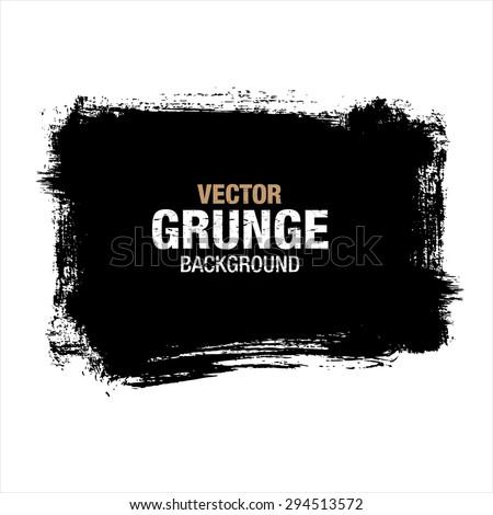 grunge black background, vector - stock vector