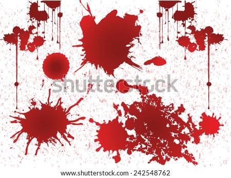 grunge blood, grunge vector - stock vector