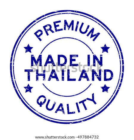 Grunge blue premium quality made in Thailand rubber stamp